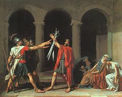 Ж.-Л.Давид. Клятва Горациев. Париж, Лувр. 1784