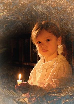 девочка со свечей