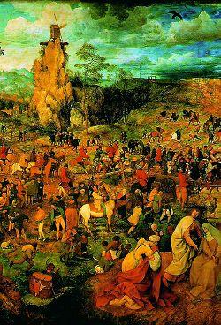 Несение Креста (фрагмент). Питер Брейгель