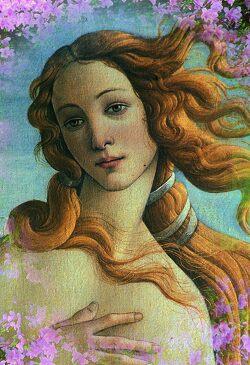 Рождение Венеры (фрагмент). Ботичелли