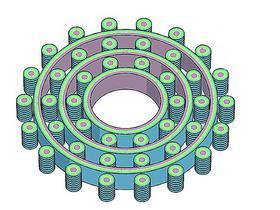 Классическая схема современного трехуровневого генератора на Сёрл-эффекте.