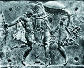 Пирриха - античный мимческий военный танец. В Спарте, где возникла пирриха, этому танцу учили с раннего детства.