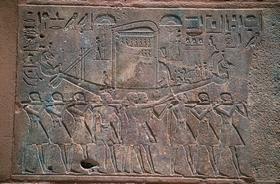 Ритуальное шествие с ладьей Амона. Карнак. Египет