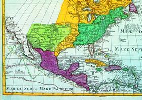 Карта Калифорнии. XIX век