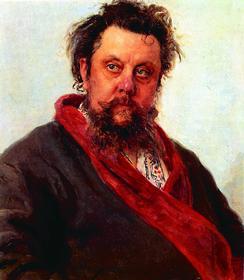 И. Е. Репин. Портрет М. П. Мусоргского