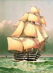 У. Митчел. Виктория. «Виктория» — 104-пушечный линейный корабль — был флагманом Нельсона в Трафальгарской битве. Корабль и сегодня числится в составе английского флота, став плавучим музеем в Портсмуте.