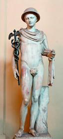 Статуя древнегреческого бога Гермеса