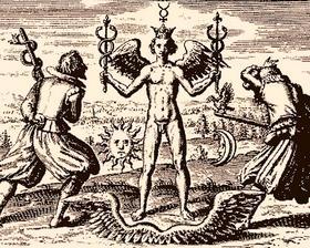 В алхимии кадуцей — это символ единства Огня и Воды, которые не уничтожают друг друга